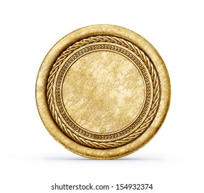 old coin isolated on a white background