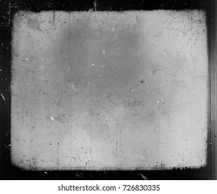 Old Dark Film Grunge Paper Texture. Horror scratched scary background.