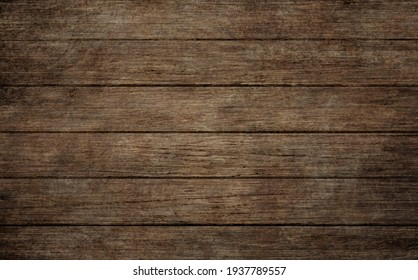 Old dark wooden background.The surface of brown wood texture