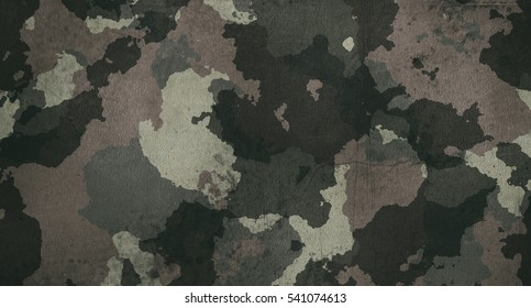 Old dirty camouflage fabric