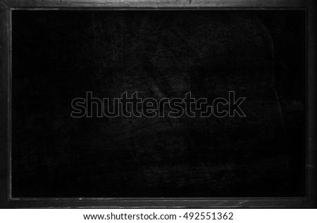 old empty blackboard template frame school stock illustration