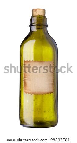 Old Fashioned Drug Bottle Label Isolated Stock Illustration 98893781