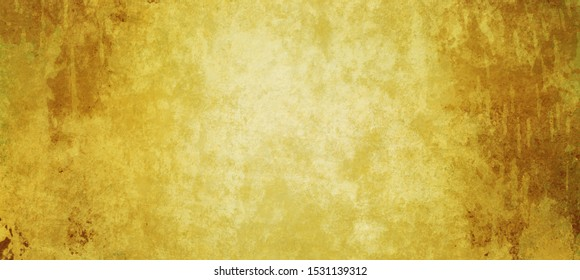 Old gold background with distressed vintage texture and dark yellow border grunge