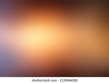 Old golden glare backdrop. Abstract blurred texture. Brown, orange, yellow empty background. Light ans smoke defocused illustration.