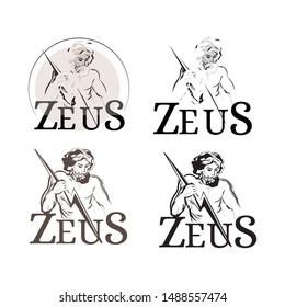 old greek god zeus illustration