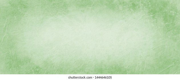 Old green background with dark border, abstract vintage background with wrinkled grunge style texture