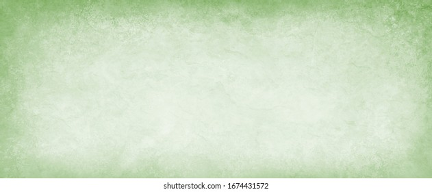 old green parchment paper background with aged vintage grunge texture borders and off white light center with distressed faded antique colors