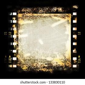 old grunge film strip background, texture