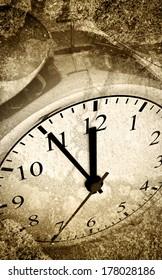 Old grunge look alarm clock