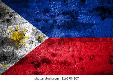 Old grunge Philipines background flag