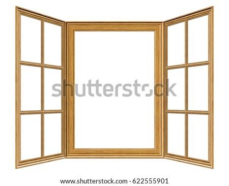 Old Grunge Wooden Window Frame Illustration Stock Illustration ...
