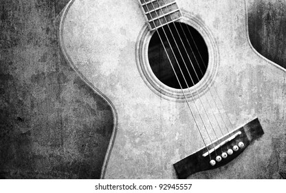 Black And White Guitar Images Stock Photos Vectors Shutterstock