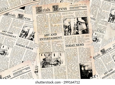 Old Irish newspapers background