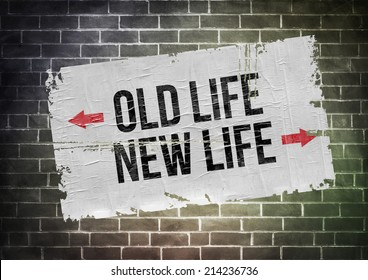 Old Life New Life - poster concept