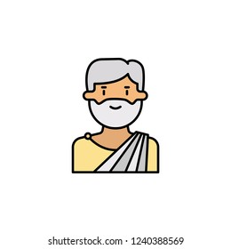 Old man Greece icon. Element of color ancient greece  icon for mobile concept and web apps. Colored Old man Greece icon can be used for web and mobile