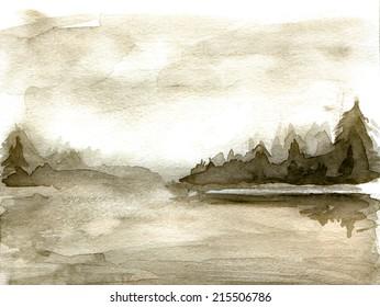 old memories, lake, handmade