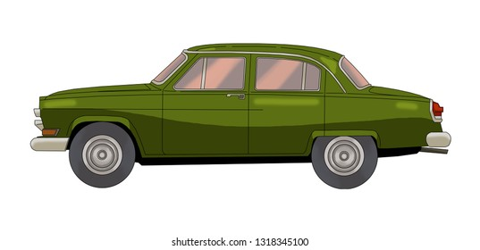 Old model car design. Vintage car