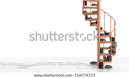 Royalty Free Stock Illustration Of Old Orange Spiral Staircase Books
