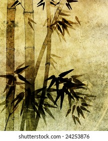 old paper bamboo background