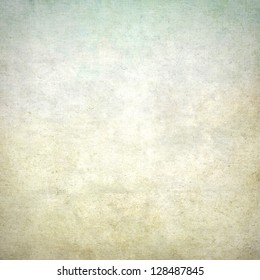 old paper grunge background with delicate abstract wall texture and blue sky view