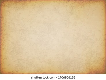 old paper sheet vintage isolated on white background, illustration