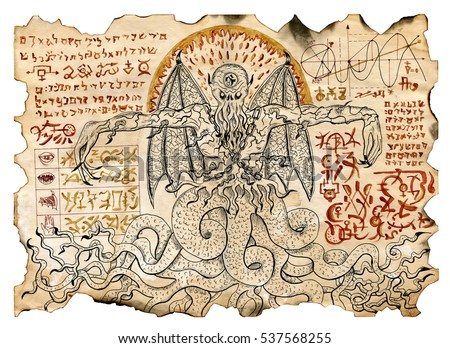 Royalty Free Stock Illustration Of Old Parchment Mystic Drawings