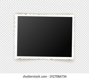 Old photo. Retro image frames. Empty snapshot frame template. illustration isolated on background.