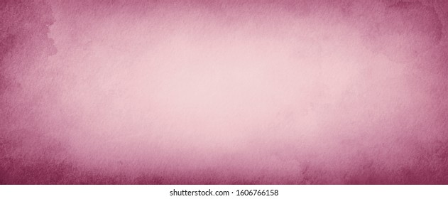Old pink paper parchment background design with distressed vintage stains and ink spatter and white faded shabby center, elegant antique dusty rose or mauve color