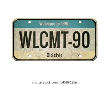 Old plate. Retro plate isolated