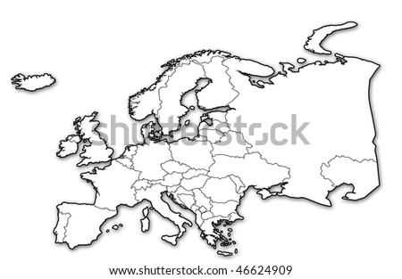Old Political Map Europe Country Borders Stockillustration 46624909 ...