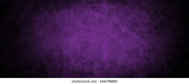 old purple vintage background with black distressed grunge texture border design, elegant website wall or paper illustration