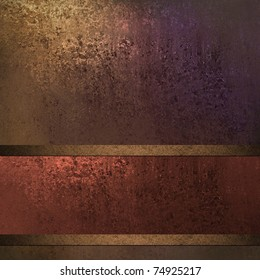 old rust red, purple, and gold background with antique grunge illustration, soft faded lighting, elegant red ribbon layout design, and copy space to add your own text or title