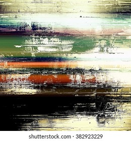 Old scratched retro-style background. With different color patterns: green; blue; red (orange); white; black