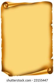 Old scroll, manuscript