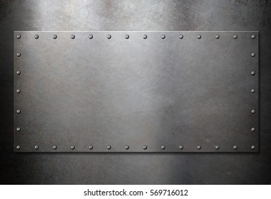 old steel metal plate background