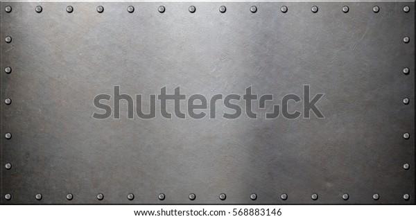 стальная металлическая пластина с заклепками