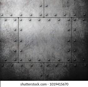 old steel metallic background 3d illustration