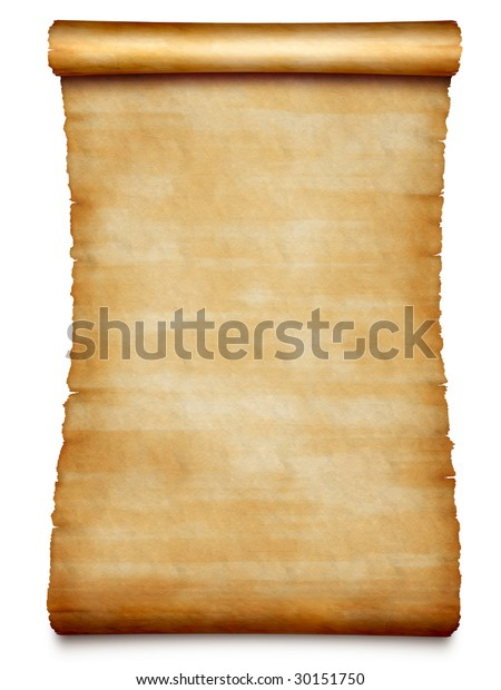 old swan-neck scroll isolated on white background