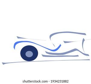 Old timer car on white