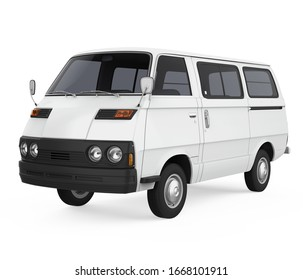 Old Van Isolated. 3D rendering