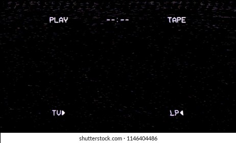 An old VHS tape black screen tracking a noisy bad signal. Cool retro vintage backdrop.