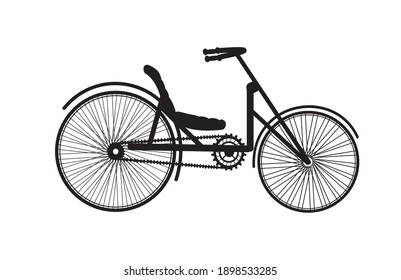 Old vintage bike silhouette retro