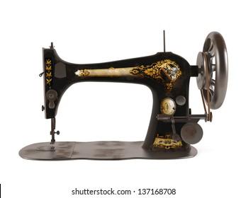 Vintage Singer Sewing Machine Stock Illustrations, Images