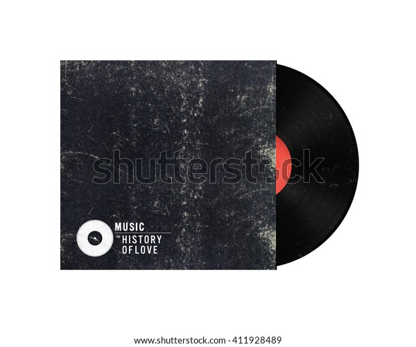 Old Vinyl Record Paper Case On Stock Illustration 411928489