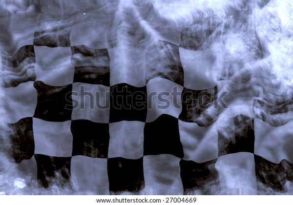 old wavy checkered flag