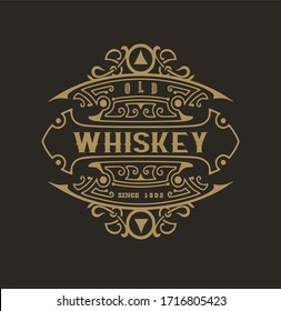 Old Whiskey Vintage Premium Design.