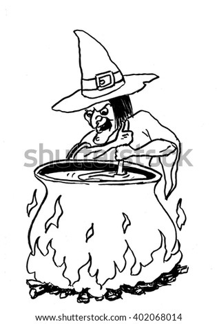 Old Witch Clipart Stock Illustration