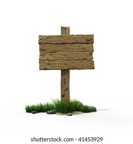 Old wooden post with a sign for the text