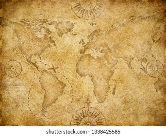 Old world map based on image furnished by NASA