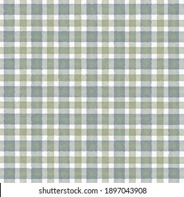 Olive green white gray vintage checkered background with blur, gradient and grunge texture. Classic checkered geometric pattern. Checkered texture. Ornament from colored square elements.